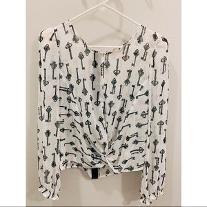 Forever 21 Long sleeve Print Top